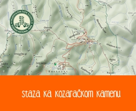 Kozaracki kamen Trail map