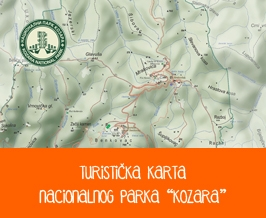 National park Kozara NP Tourist Map